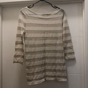 Tory Burch Gold shimmer striped shirt